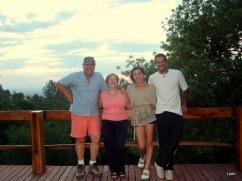 Yo, Ana, Deby y Hernán