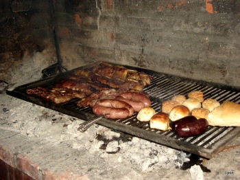 Mmmm!!, esos chorizos de cerdo..