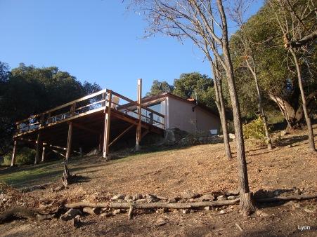 Vista al valle desde el deck