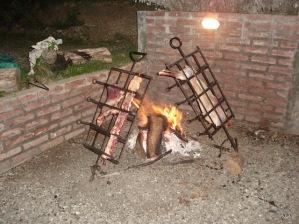 Mmmm ,Chivito a las llamas!!