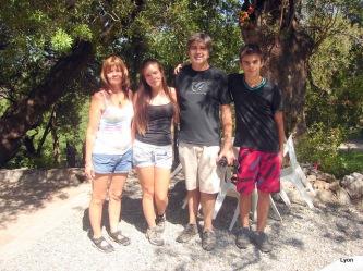 Cristina, Paula, Carlos y Guido