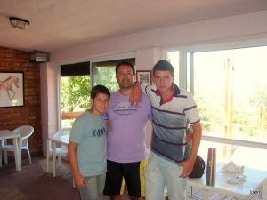 Gustavo, Franco y Matias