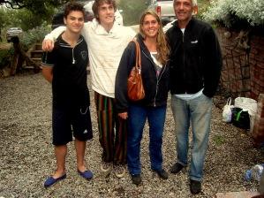Lucas, Marce, Hernán y Marina