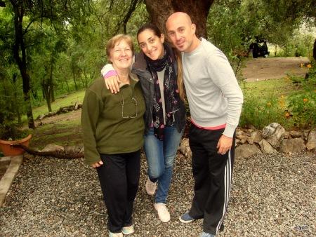 Ana Lia, Ana Baudi y Martin Lavega