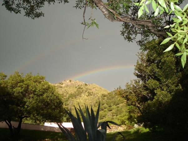 El arco iris en nuestro parador.