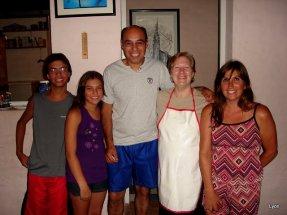Ariel, Belen, José y Andrea con Ana