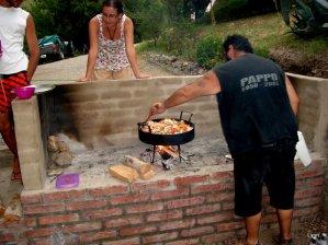 Alfonso haciendo el pollo al disco