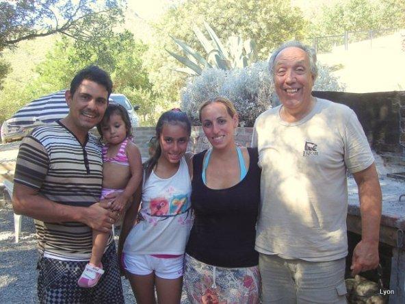 Hugo, Candelaria, Nazarena y Natalia