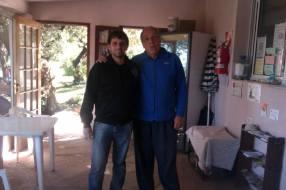 Rodrigo Cena y yo con cara de cansado..