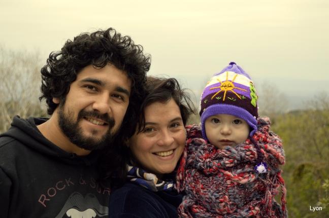 Natalia, Sebastián y la beba...
