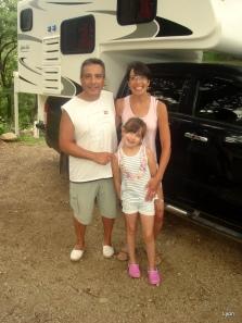 Walter Ahumada y familia...